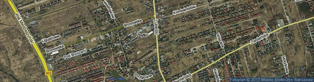 Zdjęcie satelitarne Trakt Lubelski ul.