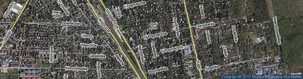 Zdjęcie satelitarne Trawiasta ul.