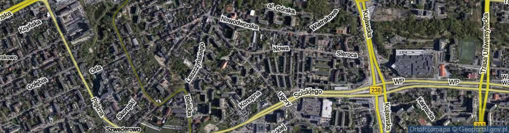 Zdjęcie satelitarne Ugory