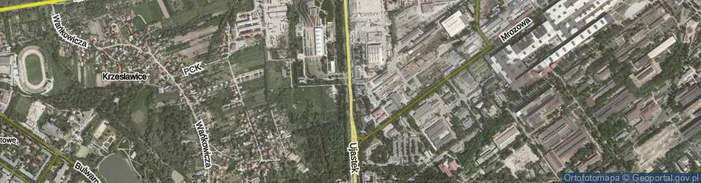 Zdjęcie satelitarne Ujastek