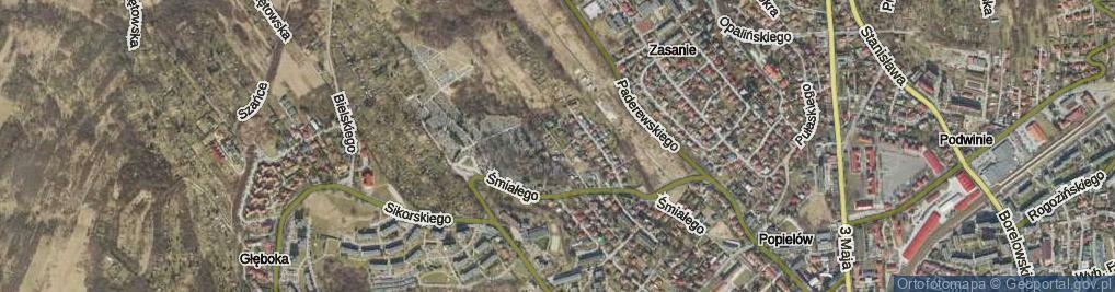 Zdjęcie satelitarne Ulica Cmentarna ul.