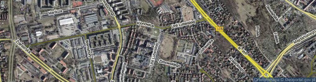Zdjęcie satelitarne Unii Lubelskiej