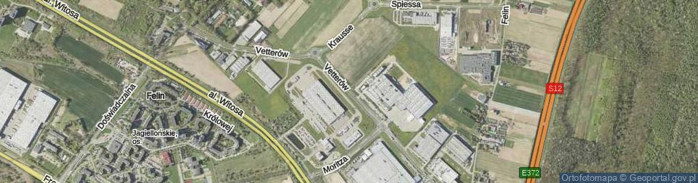 Zdjęcie satelitarne Vetterów ul.