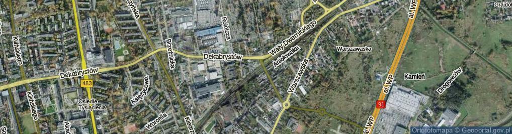 Zdjęcie satelitarne Wały Dwernickiego Józefa, gen. ul.