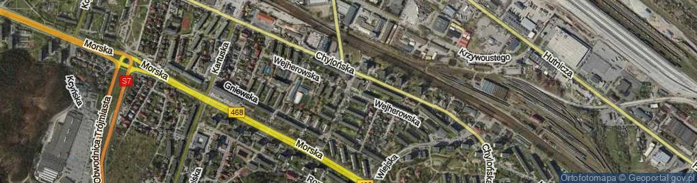 Zdjęcie satelitarne Wejherowska