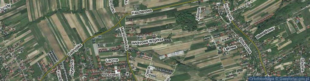Zdjęcie satelitarne Wichrowe Wzgórza ul.