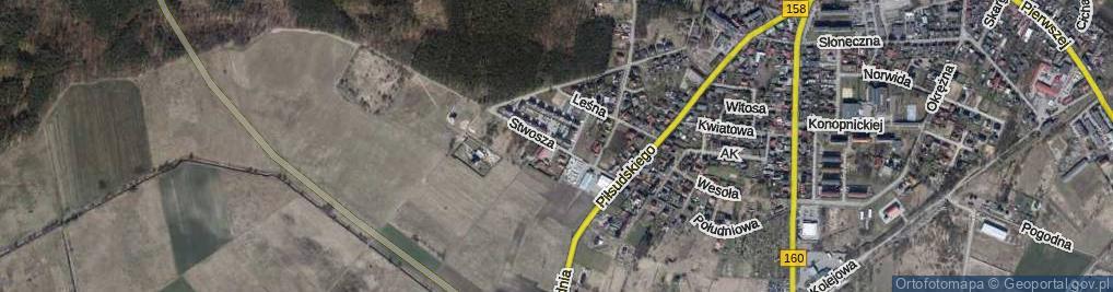 Zdjęcie satelitarne Wita Stwosza