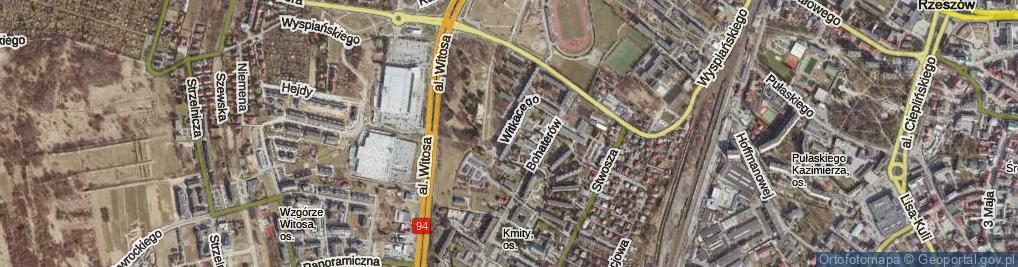 Zdjęcie satelitarne Witkacego