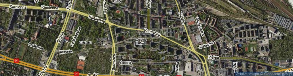 Zdjęcie satelitarne Wieczysta ul.