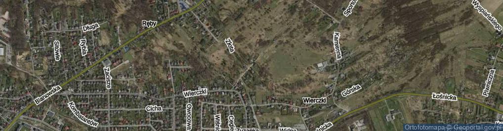 Zdjęcie satelitarne Wierczki-Północ