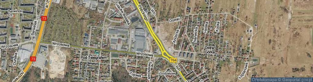 Zdjęcie satelitarne Wojska Polskiego