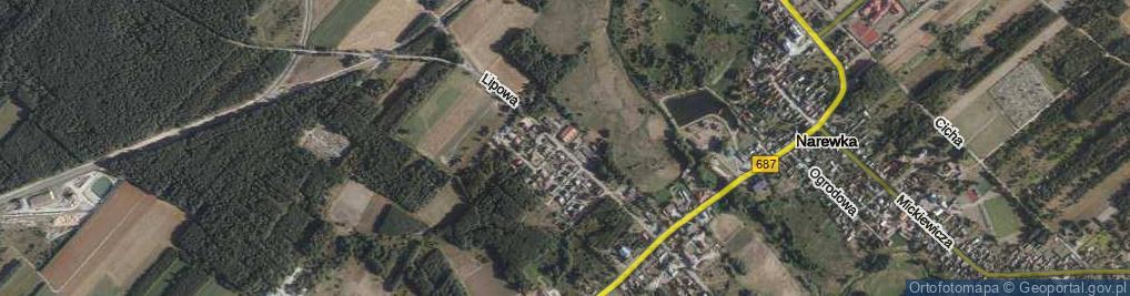 Zdjęcie satelitarne Wołkowyckiego Aleksandra