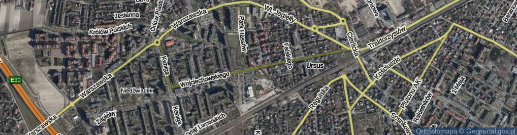 Zdjęcie satelitarne Wojciechowskiego Stanisława