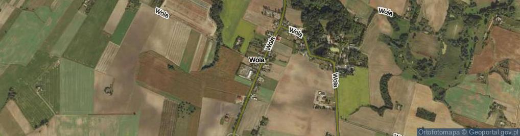 Zdjęcie satelitarne Wola