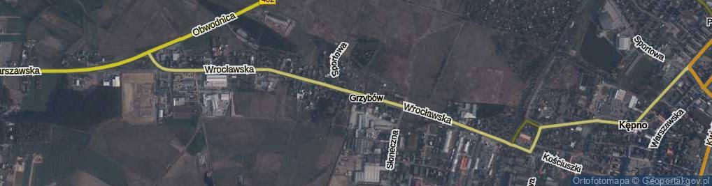 Zdjęcie satelitarne Wrocławska