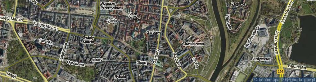 Zdjęcie satelitarne Wszystkich Świętych ul.