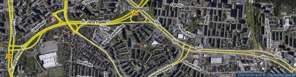 Zdjęcie satelitarne Wyżyny ul.