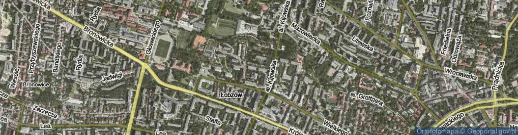 Zdjęcie satelitarne Zakątek
