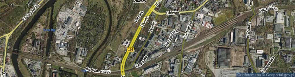 Zdjęcie satelitarne Zawady