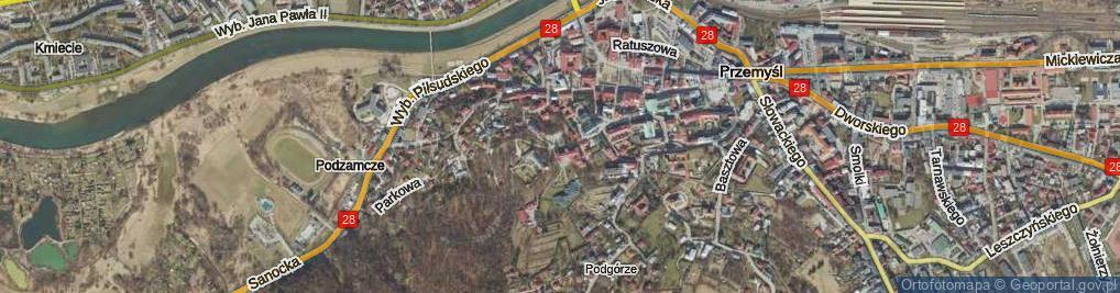 Zdjęcie satelitarne Zamkowa