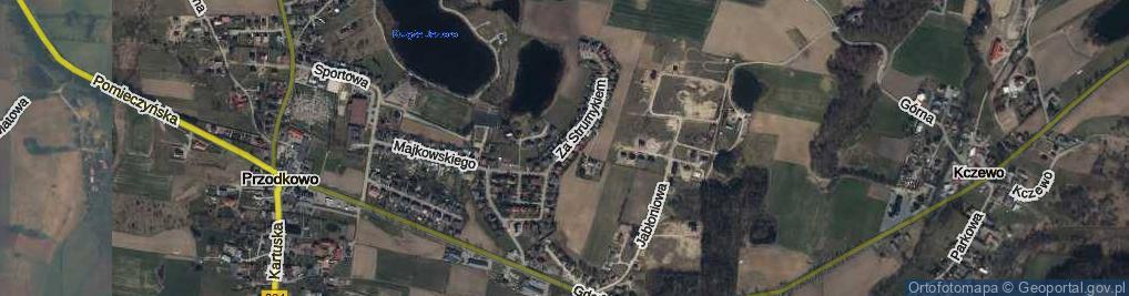 Zdjęcie satelitarne Za Strumykiem