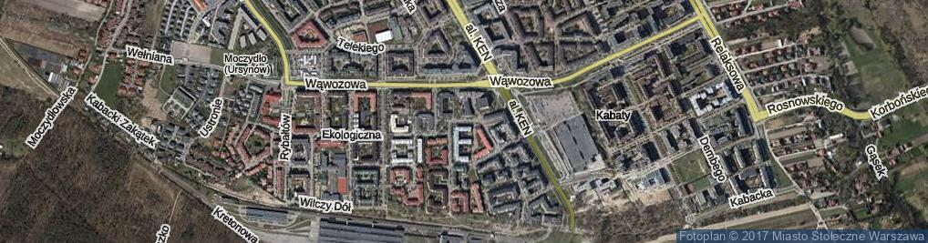 Zdjęcie satelitarne Za Łąkami ul.