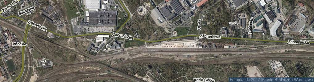 Zdjęcie satelitarne Zabraniecka