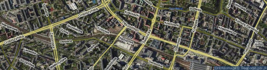 Zdjęcie satelitarne Zapolskiej Gabrieli