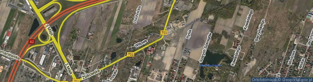 Zdjęcie satelitarne Żbikowska ul.
