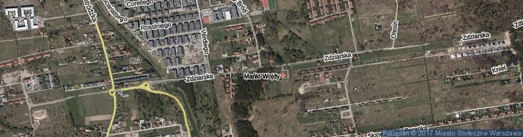 Zdjęcie satelitarne Zdziarska