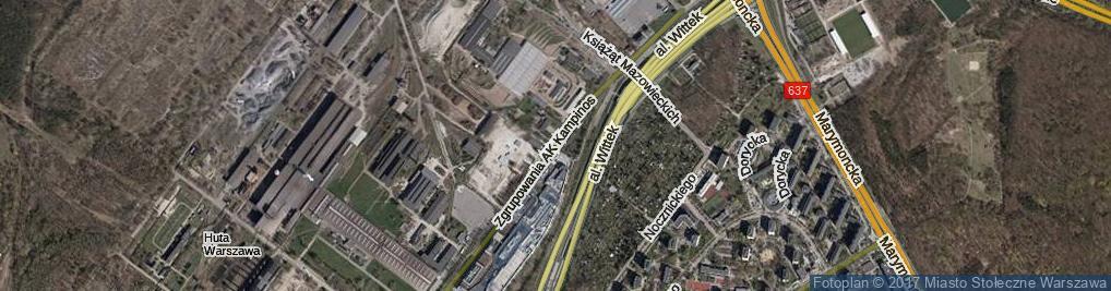 Zdjęcie satelitarne Zgrupowania AK Kampinos ul.