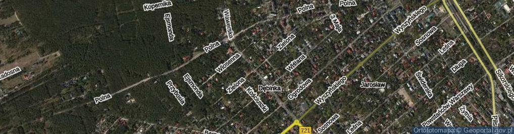 Zdjęcie satelitarne Zielona