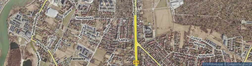 Zdjęcie satelitarne Zielna