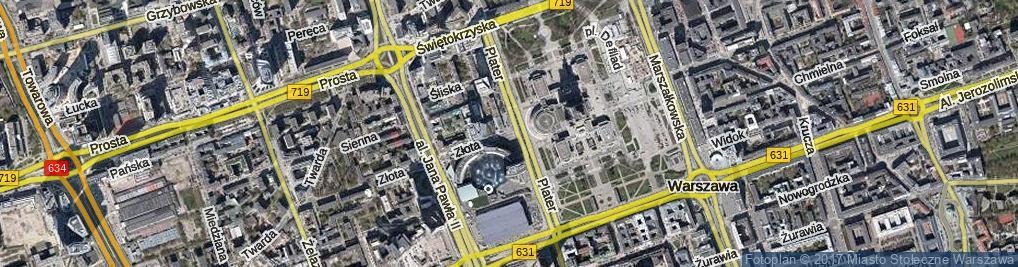 Zdjęcie satelitarne Złota