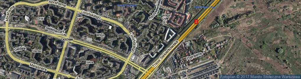 Zdjęcie satelitarne Znanieckiego Floriana