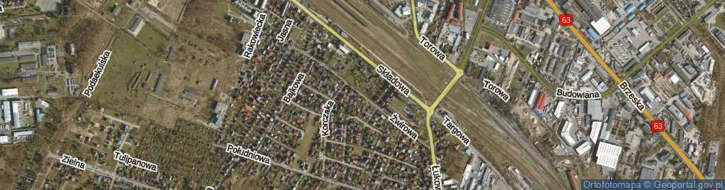 Zdjęcie satelitarne Żwirowa