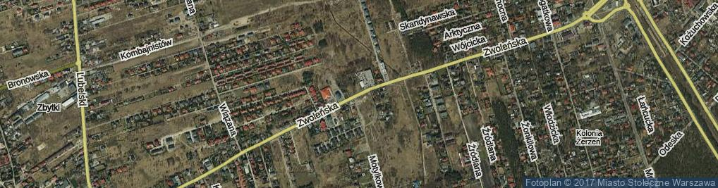 Zdjęcie satelitarne Zwoleńska ul.