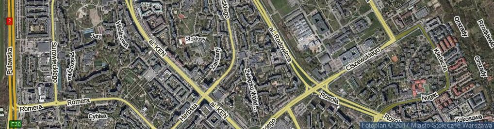 Zdjęcie satelitarne Związku Walki Młodych