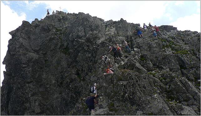 Rysy, widok spod szczytu,  Morskie Oko - Zdjęcia (Północny wierzchołek Rysów ze szlaku)