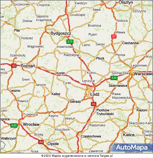 Koœcioły œw.Jakuba. Mapa Polski Targeo