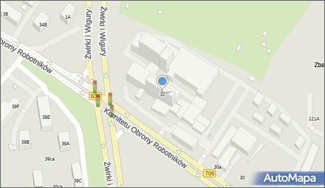 Warszawa, 17 Stycznia, 32, mapa Warszawy