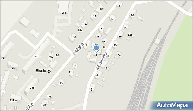 Nowe Skalmierzyce, 29 Grudnia, 9, mapa Nowe Skalmierzyce