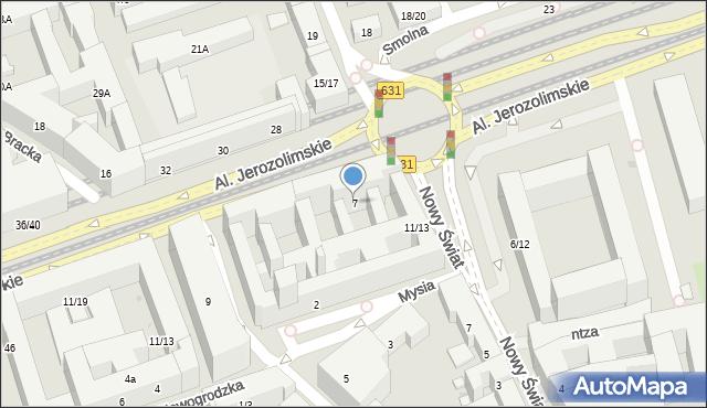 Warszawa, Aleje Jerozolimskie, 7, mapa Warszawy
