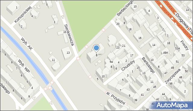 Gliwice, Berbeckiego Leona, gen., 6, mapa Gliwic