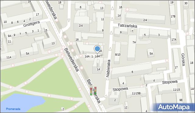 Warszawa, Belwederska, 14I, mapa Warszawy