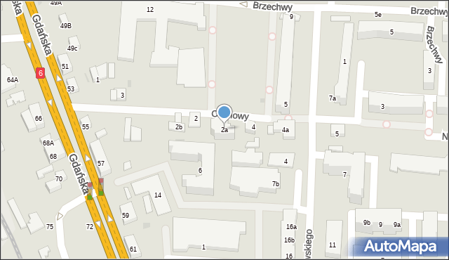 Reda, Ceynowy Floriana, 2a, mapa Reda