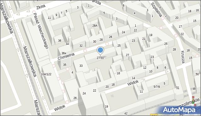 Warszawa, Chmielna, 27/31, mapa Warszawy