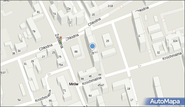 Warszawa, Chłodna, 15, mapa Warszawy