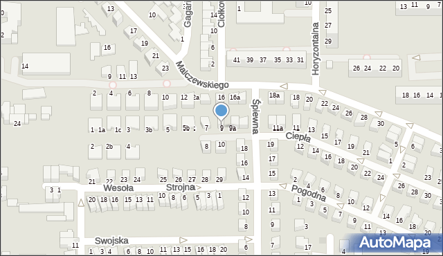 Legnica, Ciepła, 9, mapa Legnicy