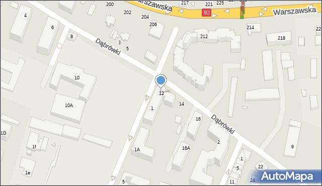 Mińsk Mazowiecki, Dąbrówki, 12, mapa Mińsk Mazowiecki